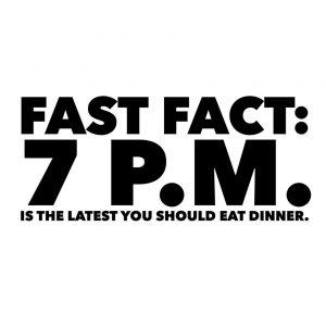 In a recent study, people who ate past this cutoff time gained weight and had higher cholesterol levels. (University of Pennsylvania)