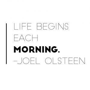 Start your day with intention!