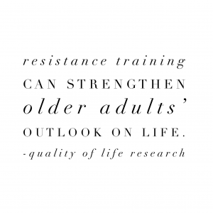 Resistance training can strengthen older adults' outlook on life.  Quality of Life Research