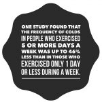 Exercise may help strengthen your immune system. (Journal of Sports Medicine)