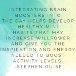 Walking for a meeting, playing a game of cards, handwriting a note, doing a plank—these are just a few examples of simple brain boosters.