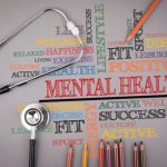 Mental Health. Colored pencils and a stetoscope on the table
