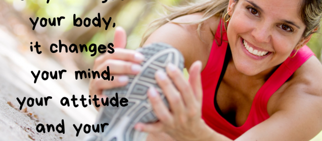 It's not just about losing the weight. Exercise is so important in all facets of your life.